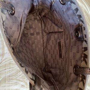 Michael Kors Bags - Michael Kors Monogram Tote Bag Purse Gray MK EUC